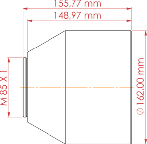 Futonics F-Theta Objektiv F-TO 345/2000